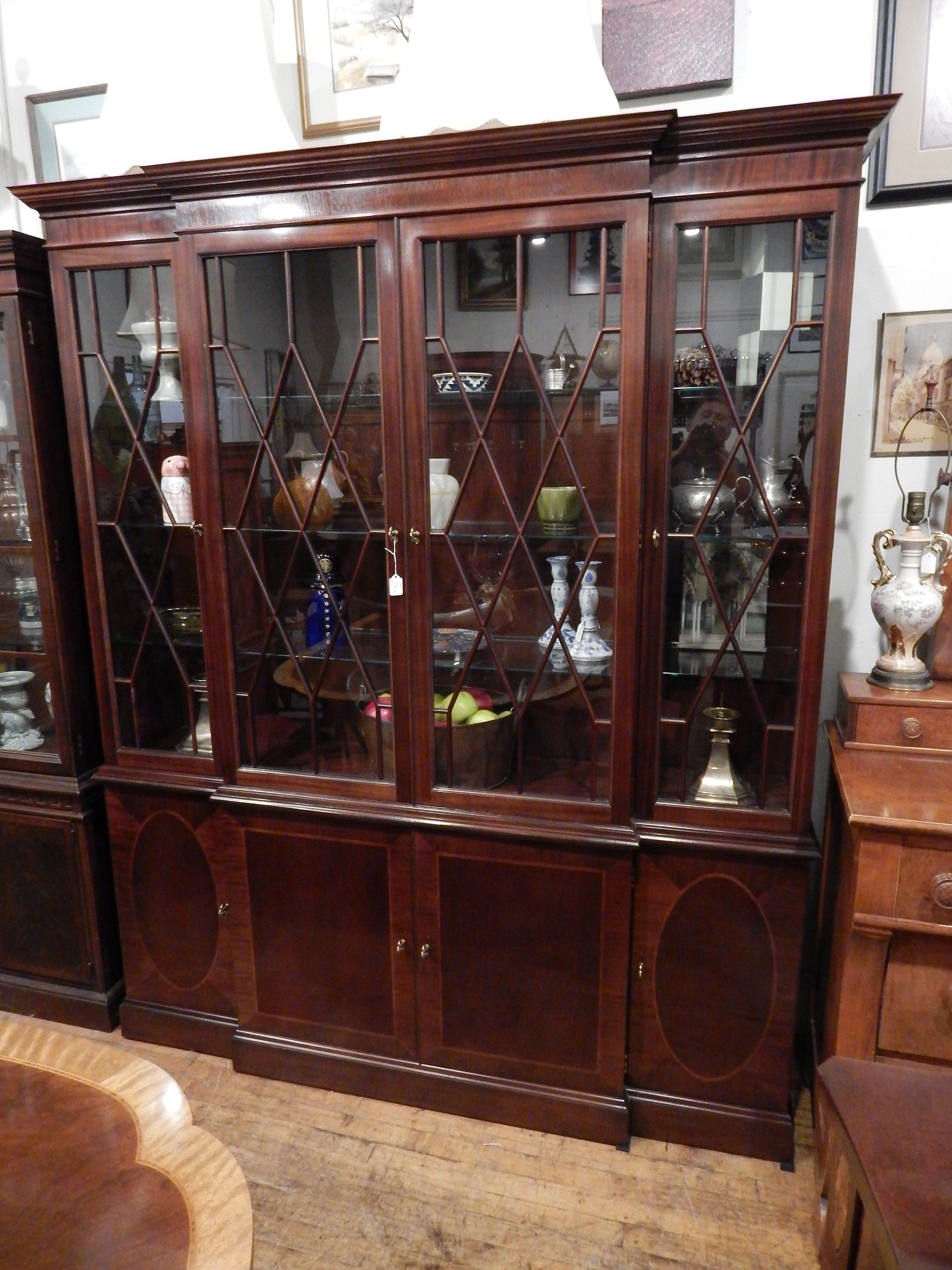 Baker Furniture Historic Charleston China Cabinet Breakfront   Astute  Furnishings