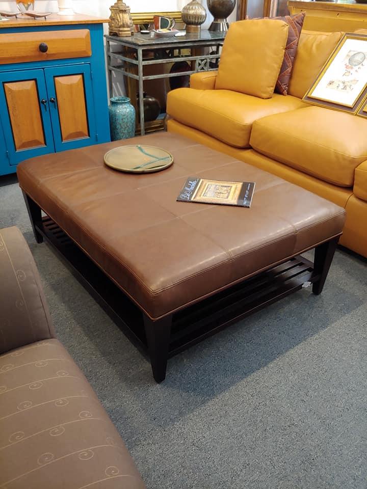 Incredible Baker Furniture Large Leather Ottoman Coffee Table Frankydiablos Diy Chair Ideas Frankydiabloscom